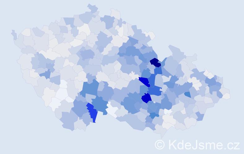 Příjmení: 'Bednářová', počet výskytů 4988 v celé ČR