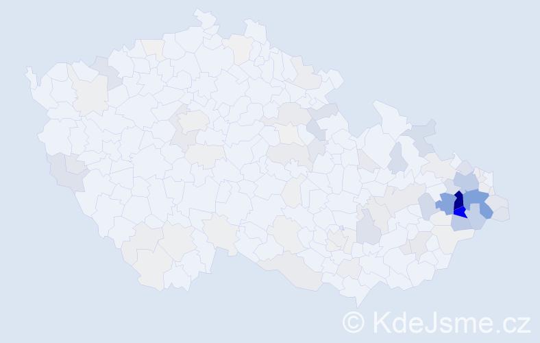 Příjmení: 'Jalůvková', počet výskytů 412 v celé ČR