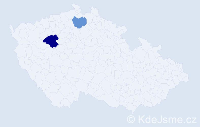 Příjmení: 'Fabišková', počet výskytů 3 v celé ČR