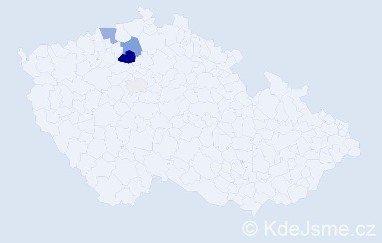 Příjmení: 'Machleidtová', počet výskytů 9 v celé ČR
