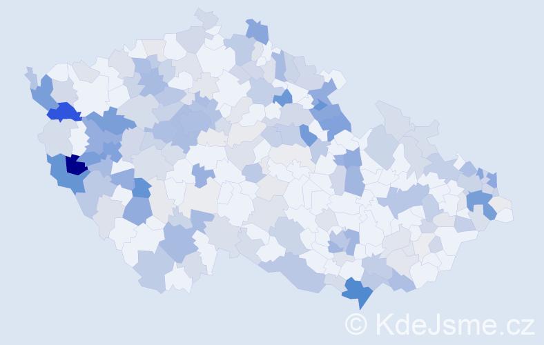 Příjmení: 'Jungová', počet výskytů 674 v celé ČR