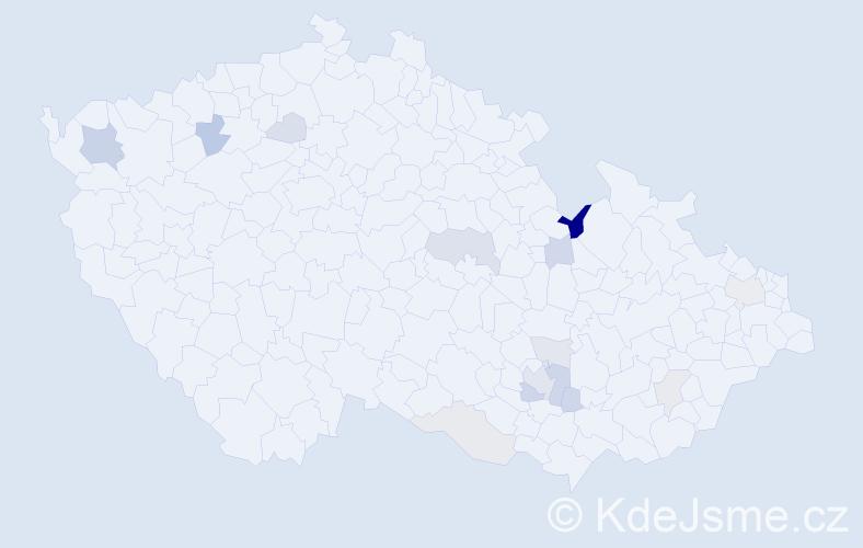 Příjmení: 'Makar', počet výskytů 30 v celé ČR