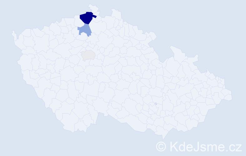 Příjmení: 'Camargo', počet výskytů 8 v celé ČR
