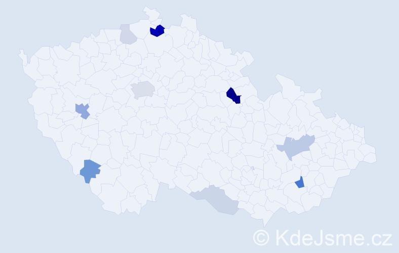 Příjmení: 'Laluha', počet výskytů 25 v celé ČR