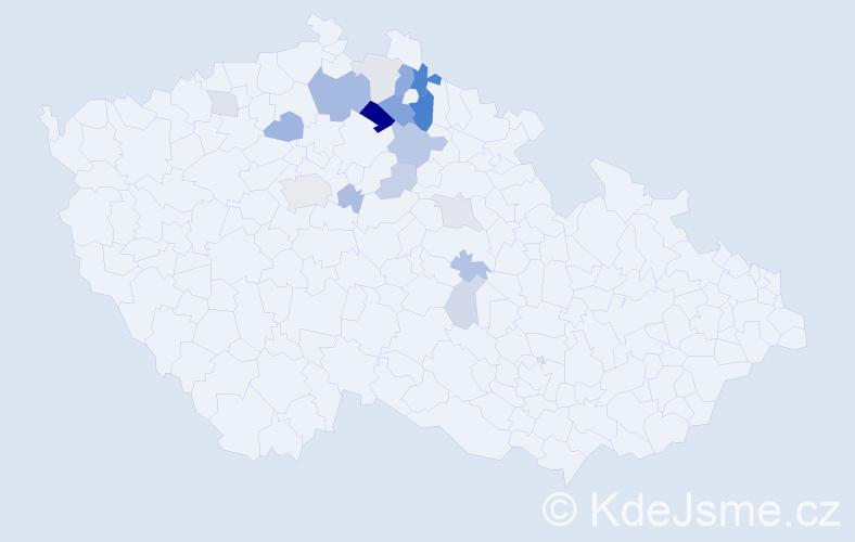 Příjmení: 'Kvintus', počet výskytů 41 v celé ČR