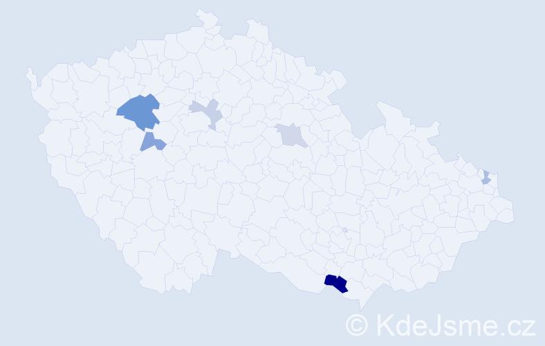 Příjmení: 'Korenko', počet výskytů 10 v celé ČR