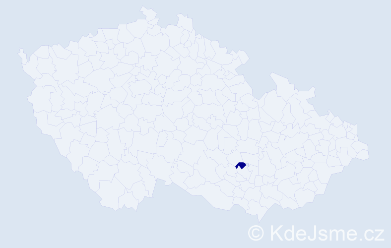 Příjmení: 'Gilániková', počet výskytů 1 v celé ČR