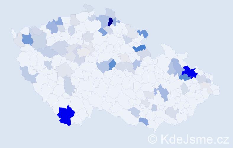 Příjmení: 'Čarná', počet výskytů 209 v celé ČR