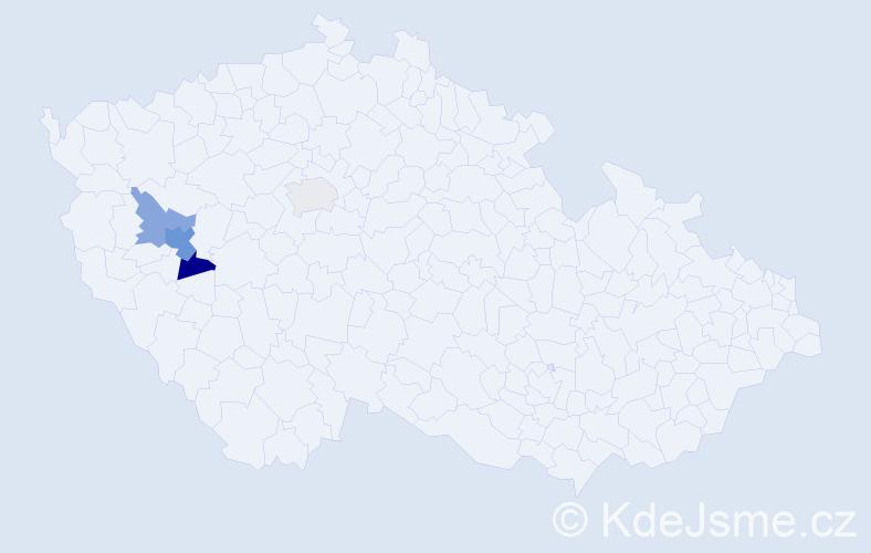 Příjmení: 'Achacová', počet výskytů 7 v celé ČR