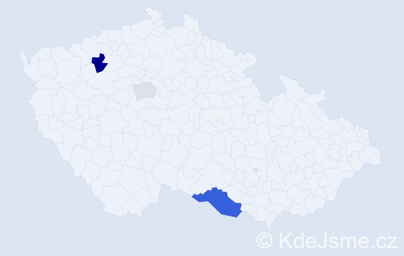 Příjmení: 'Kadnár', počet výskytů 11 v celé ČR