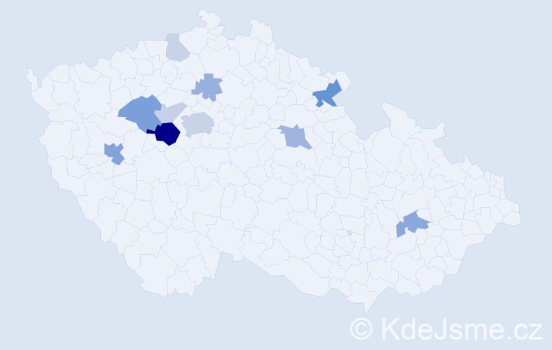 Příjmení: 'Lehárová', počet výskytů 30 v celé ČR