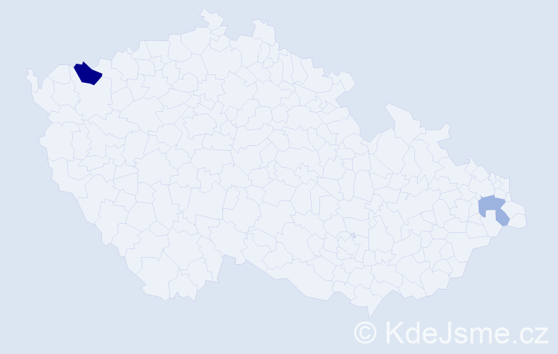 Příjmení: 'Droždiaková', počet výskytů 3 v celé ČR