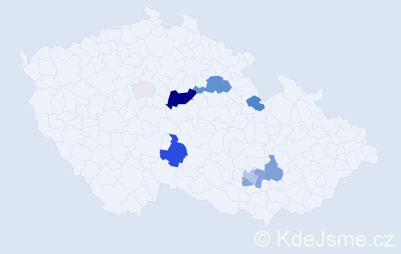 Příjmení: 'Buřival', počet výskytů 16 v celé ČR