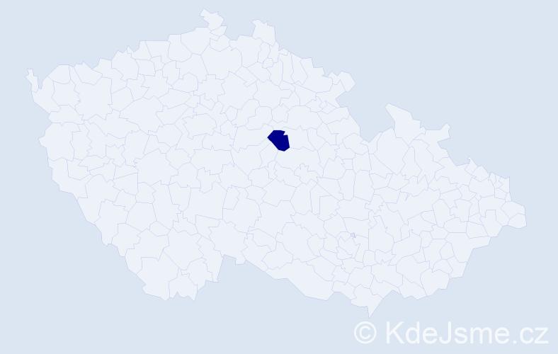 """Příjmení: '""""Hudcová Čejková""""', počet výskytů 1 v celé ČR"""