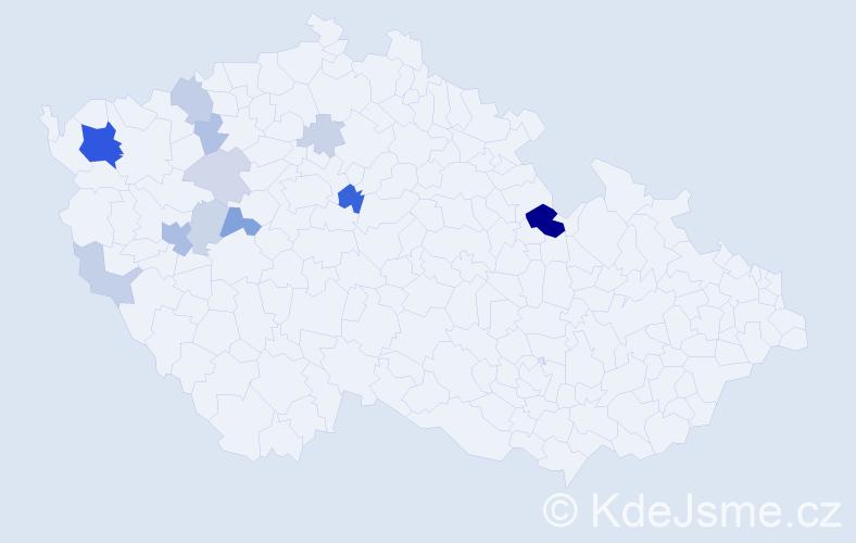 Příjmení: 'Leicht', počet výskytů 37 v celé ČR