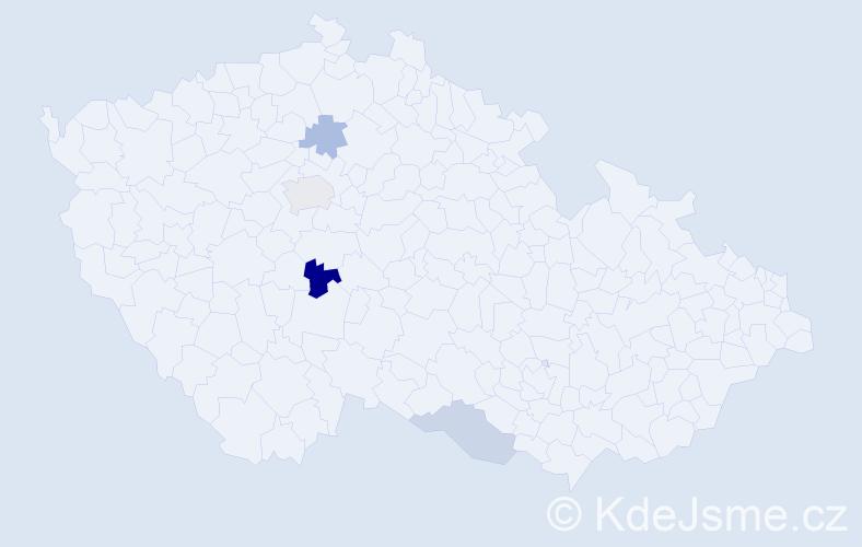 Příjmení: 'Imro', počet výskytů 6 v celé ČR