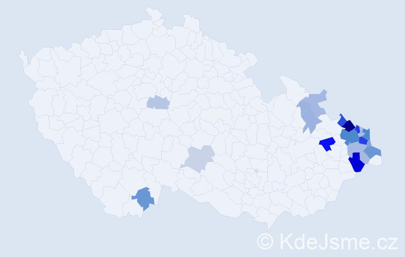 Příjmení: 'Gattnar', počet výskytů 56 v celé ČR