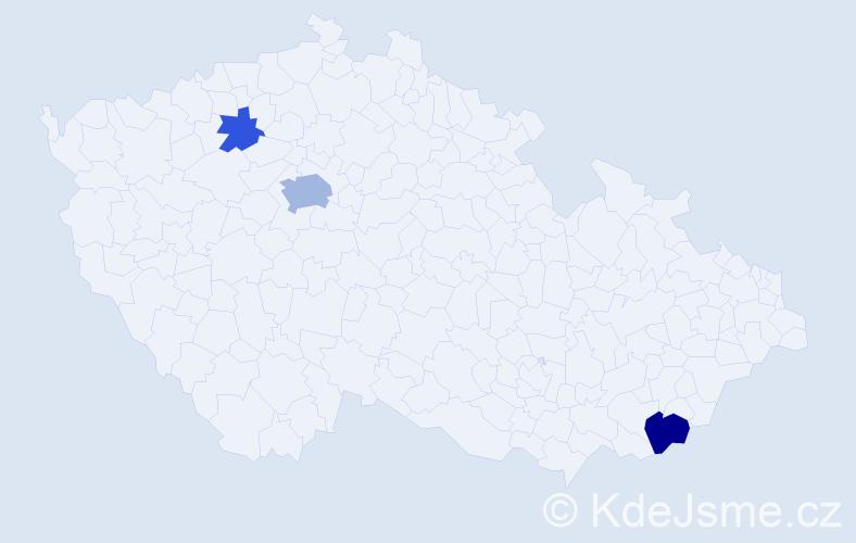 Příjmení: 'Ďubašíková', počet výskytů 7 v celé ČR