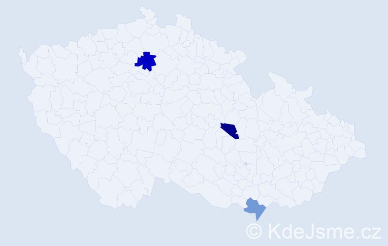 Příjmení: 'Brunoldová', počet výskytů 4 v celé ČR