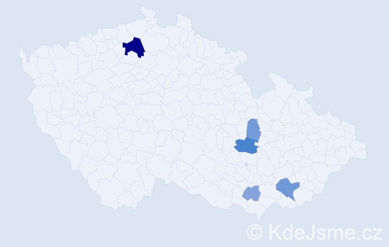 Příjmení: 'Elísek', počet výskytů 15 v celé ČR