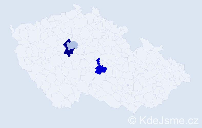 Příjmení: 'Jassiková', počet výskytů 5 v celé ČR
