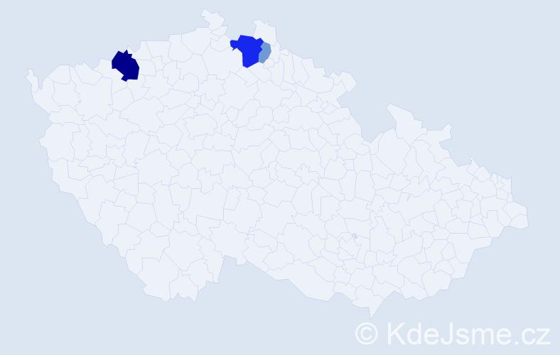 Příjmení: 'Jäschke', počet výskytů 9 v celé ČR