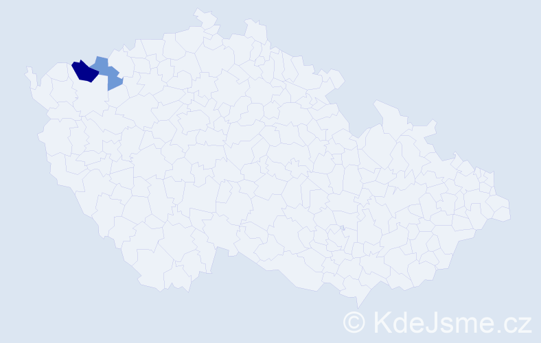Příjmení: 'Jáhna', počet výskytů 3 v celé ČR