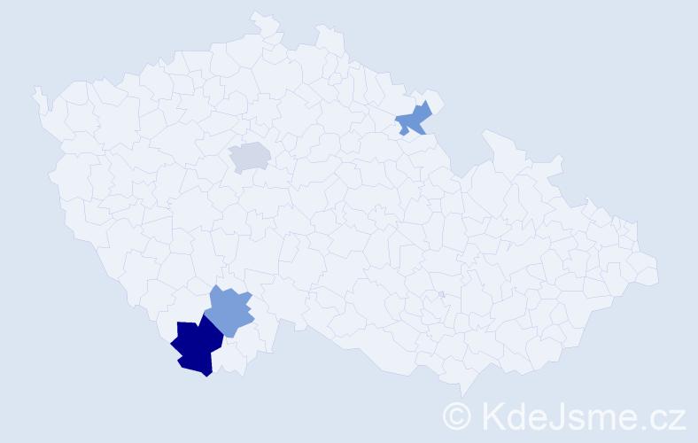 Příjmení: 'Kroiher', počet výskytů 13 v celé ČR