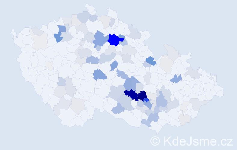 Příjmení: 'Babák', počet výskytů 361 v celé ČR