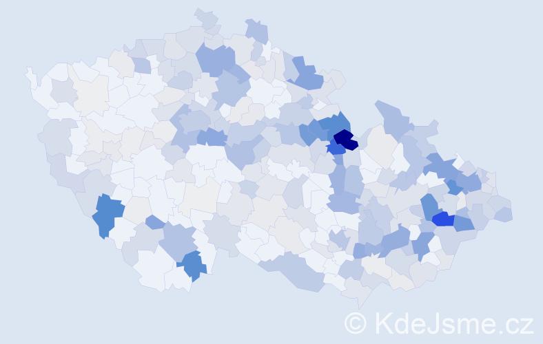 Příjmení: 'Krčmářová', počet výskytů 1076 v celé ČR
