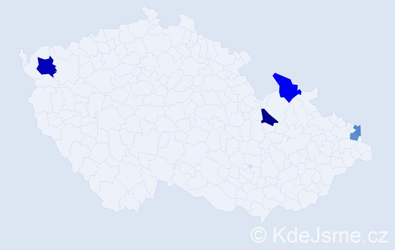 Příjmení: 'Golkovská', počet výskytů 6 v celé ČR