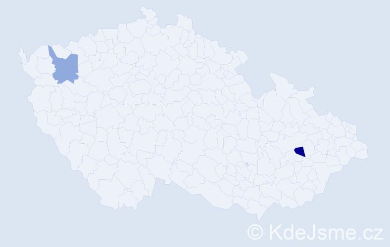 Příjmení: 'Koprušák', počet výskytů 2 v celé ČR
