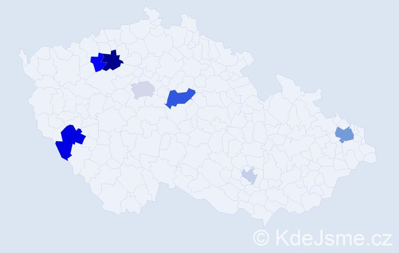 Příjmení: 'Eibenová', počet výskytů 13 v celé ČR