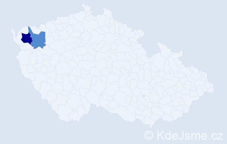Příjmení: 'Asszony', počet výskytů 3 v celé ČR