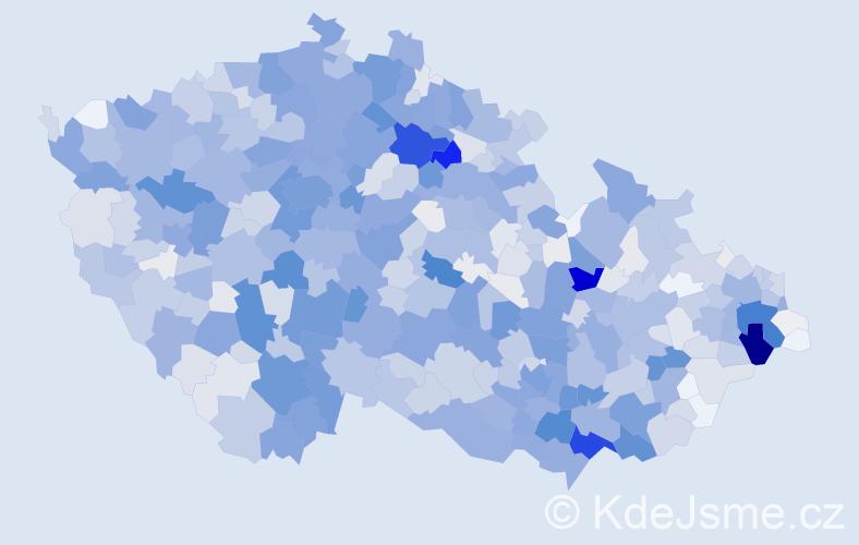 Příjmení: 'Bílková', počet výskytů 4616 v celé ČR