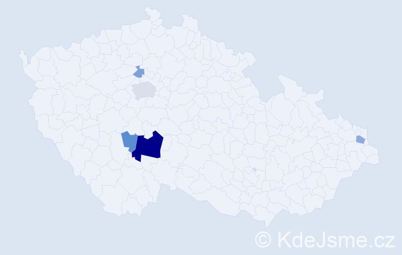 Příjmení: 'Ješová', počet výskytů 17 v celé ČR