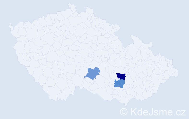 Příjmení: 'Cvilinek', počet výskytů 8 v celé ČR
