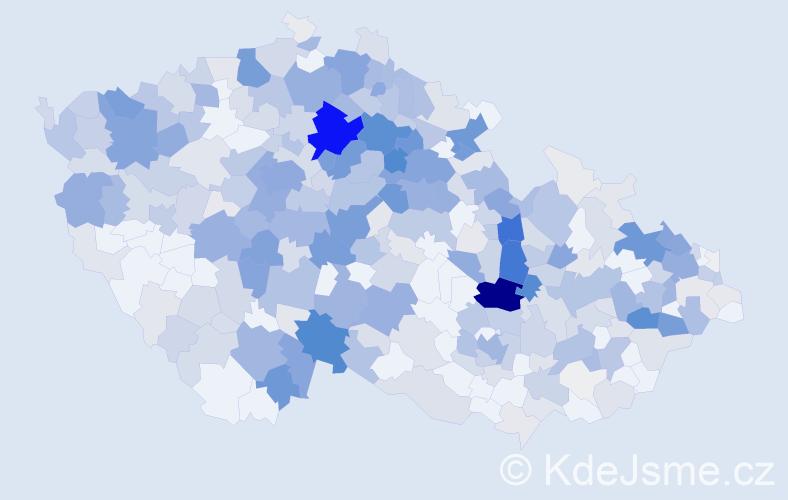 Příjmení: 'Kubínová', počet výskytů 1907 v celé ČR