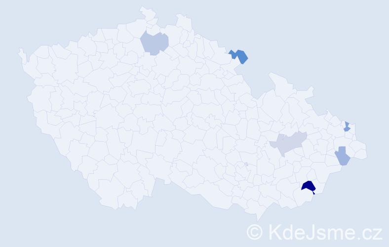 Příjmení: 'Dobrota', počet výskytů 15 v celé ČR