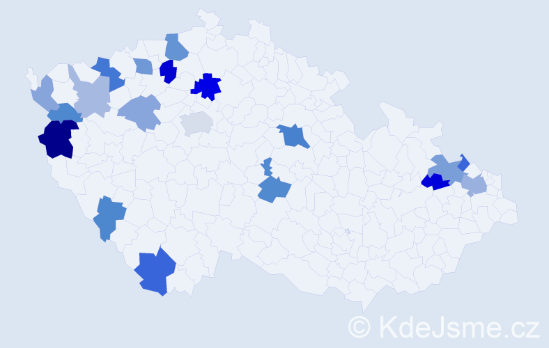 Příjmení: 'Fecko', počet výskytů 38 v celé ČR