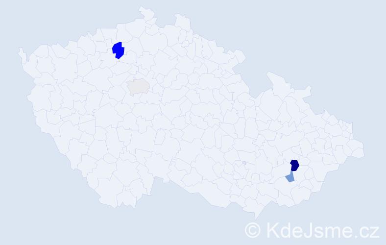 Příjmení: 'Cséfalvayová', počet výskytů 6 v celé ČR