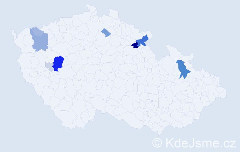 Příjmení: 'Andreovský', počet výskytů 29 v celé ČR