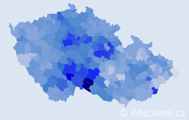 Příjmení: 'Nováková', počet výskytů 35187 v celé ČR