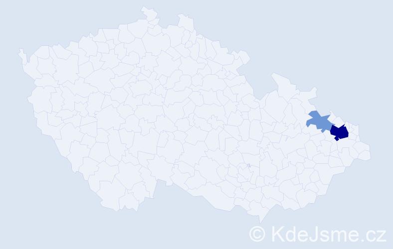 Příjmení: 'Bysková', počet výskytů 8 v celé ČR