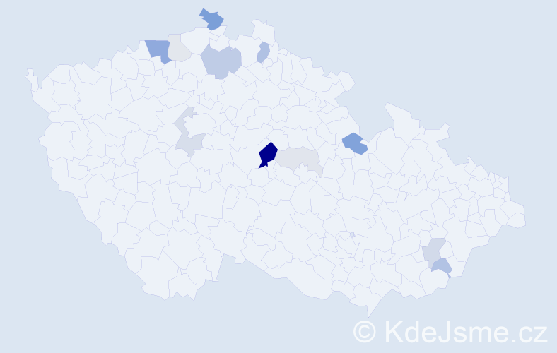 Příjmení: 'Brebis', počet výskytů 37 v celé ČR