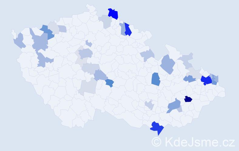 Příjmení: 'Babič', počet výskytů 137 v celé ČR