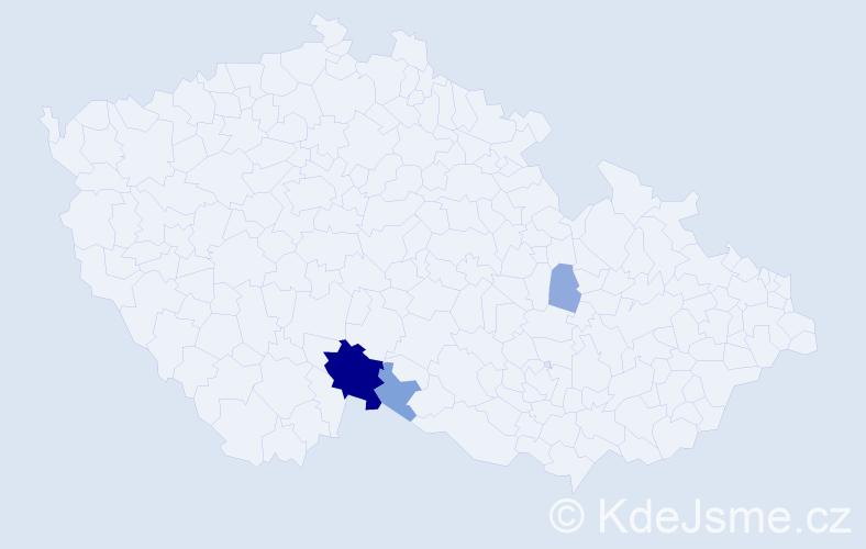 Příjmení: 'Ďurinák', počet výskytů 11 v celé ČR