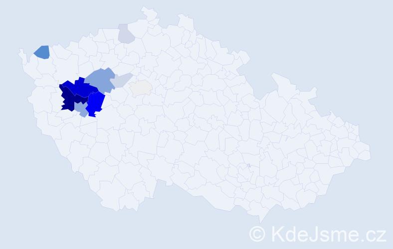 Příjmení: 'Čiha', počet výskytů 27 v celé ČR