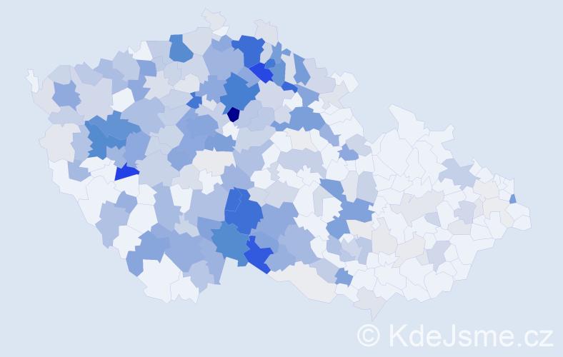 Příjmení: 'Jírová', počet výskytů 955 v celé ČR