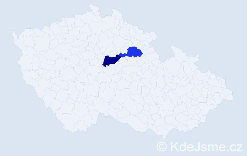 Příjmení: 'Helger', počet výskytů 2 v celé ČR